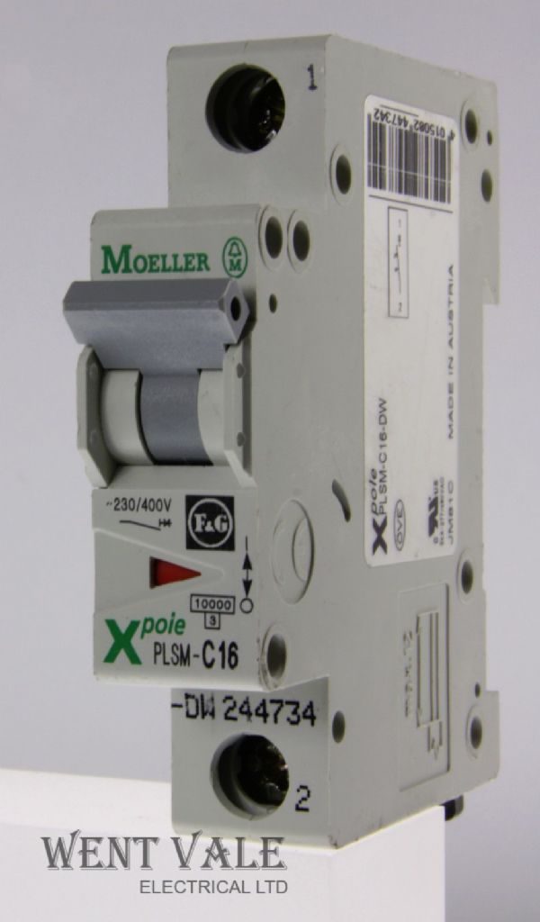 Moeller X Pole - PLSM-C16-DW - 16a Type C Single Pole MCB Used